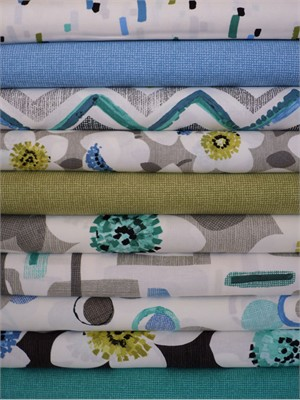 Contempo, Cachet, Blue/Green in FAT QUARTERS 10 Total