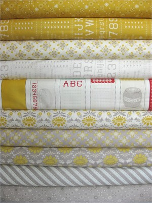 Cosmo Cricket, Baby Jane, Mustard in FAT QUARTERS 10 Total