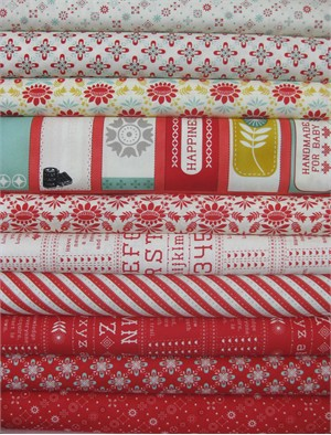 Cosmo Cricket, Baby Jane, Scarlet in FAT QUARTERS 10 Total