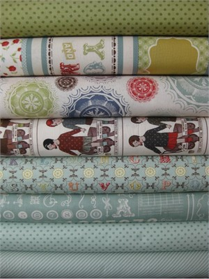 Cosmo Cricket, Odds & Ends, Vintage Sky in FAT QUARTERS, 8 Total