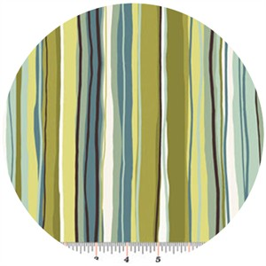 Contempo, Dwellings, Wavy Pencil Stripe Green