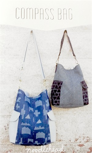 Noodlehead, Sewing Pattern, Compass Bag