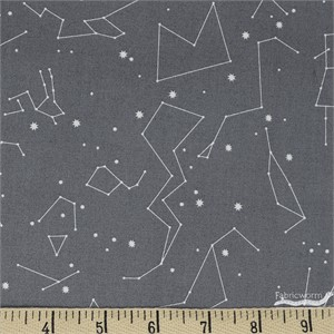 Japanese Import, DOUBLE GAUZE, Constellations Grey