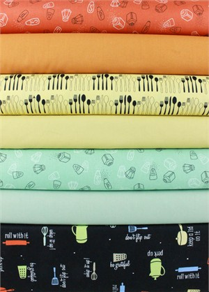 Fabricworm Custom Bundle , Cookin' Kitchen in FAT QUARTERS 7 Total