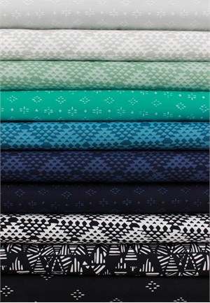 Hoffman Fabrics, Indah BATIKS, Cool Caribbean in FAT QUARTERS 10 Total