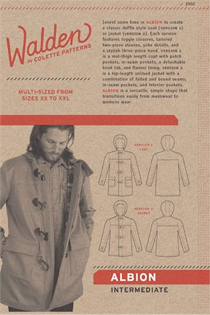 Colette Sewing Pattern, Albion Coat