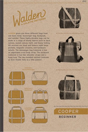 Colette Sewing Pattern, Cooper Bag