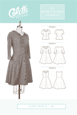 Colette Sewing Patterns, Hawthorn Dress