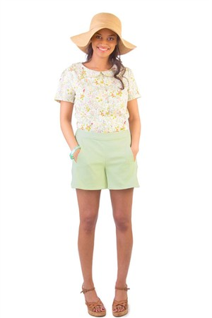 Colette Sewing Patterns, Iris Shorts