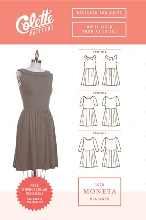 Colette Sewing Patterns, Moneta