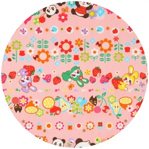 Cosmo Textiles, Kawaii Lines Pink