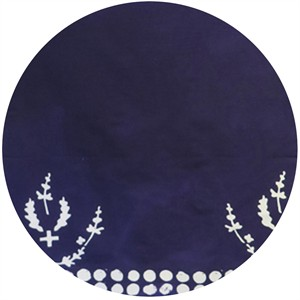 Alison Glass for Andover, Handcrafted Indigos, Plume Double Border Navy