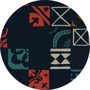 Alexia Marcelle Abegg for Cotton and Steel, Clover, CANVAS, Plaza Tiles Indigo