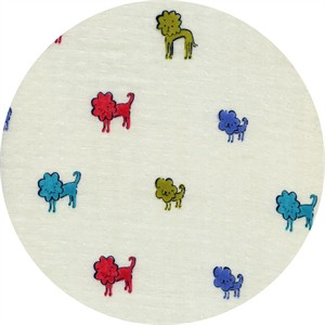 Alexia Marcelle Abegg for Cotton and Steel, Clover, DOUBLE GAUZE, Dog Lions Blue