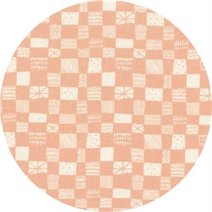 Alexia Marcelle Abegg for Cotton and Steel, Print Shop, Grid Peach