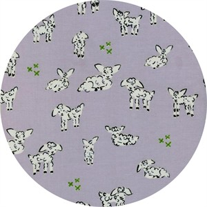 Alexia Marcelle Abegg for Cotton and Steel, Clover, Little Lambs Grey