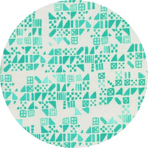 Alexia Marcelle Abegg for Cotton and Steel, Clover, Tiny Tiles Aqua