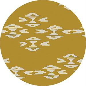 April Rhodes for Art Gallery, Observer, KNIT, Overshot Gold