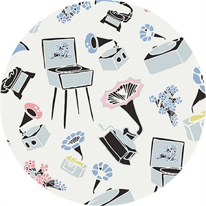 Art Gallery Fabrics, Pastel Thrift, Gramoflora Lullabie