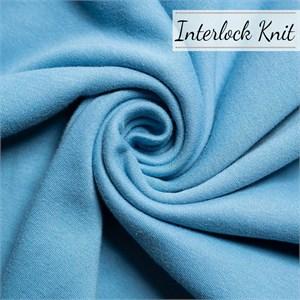 Birch Organic Fabrics, Mod Basics, KNIT, Solid Periwinkle
