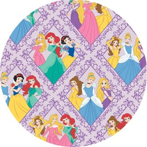 Camelot Fabrics, Disney Princess, Diamonds Purple