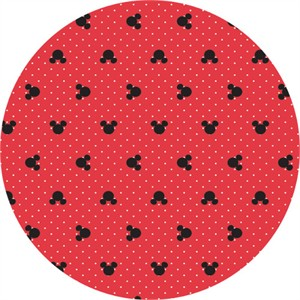Camelot Fabrics, Mickey Mouse & Friends, Mickey Polka Dots Ruby