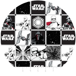 Camelot Fabrics, Star Wars: The Force Awakens, Grid Black