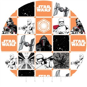 Camelot Fabrics, Star Wars: The Force Awakens, Grid Orange