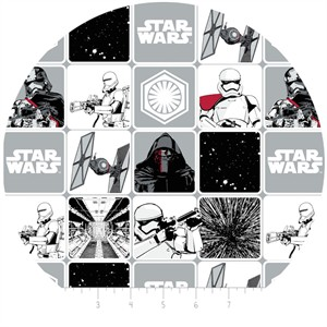 Camelot Fabrics, Star Wars: The Force Awakens, Grid Stone