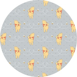 Camelot Fabrics, Winnie the Pooh, Honeybee Light Grey