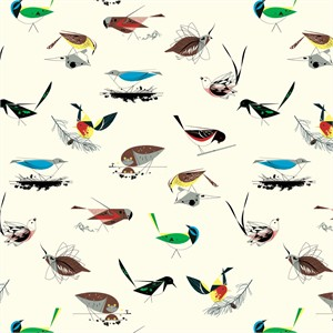 COMING SOON, Charley Harper for Birch Organic Fabrics, Western Birds, Western Birds Main