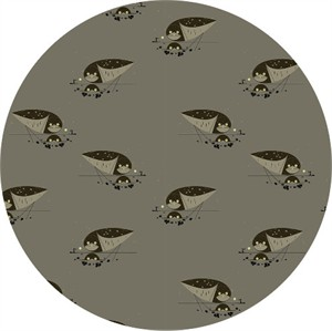 COMING SOON, Charley Harper for Birch Organic Fabrics, Western Birds, Burrowing Owl