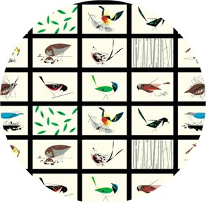 AVAILABLE FOR PREORDER, Charley Harper for Birch Organic Fabrics, Western Birds, Western Birds Patch