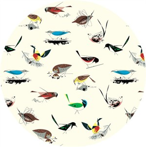 COMING SOON, Charley Harper for Birch Organic Fabrics, Western Birds, KNIT, Western Birds Main