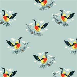 COMING SOON, Charley Harper for Birch Organic Fabrics, Western Birds, KNIT, Western Tanager