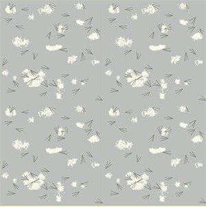 Charley Harper for Birch Organic Fabrics, Western Birds, Tracks Haze