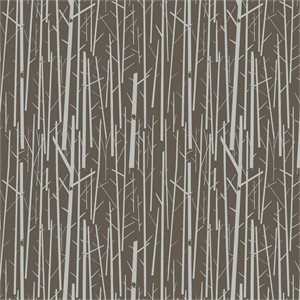 AVAILABLE FOR PREORDER, Charley Harper for Birch Organic Fabrics, Western Birds, CANVAS, Perch Bark