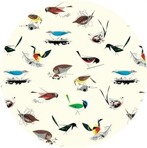 Charley Harper for Birch Organic Fabrics, Western Birds, CANVAS, Large Western Birds Main