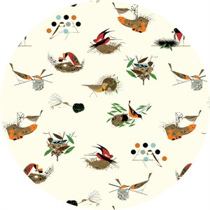 COMING SOON, Charley Harper for Birch Organic Fabrics, Bird Architects, KNIT, Architects Main