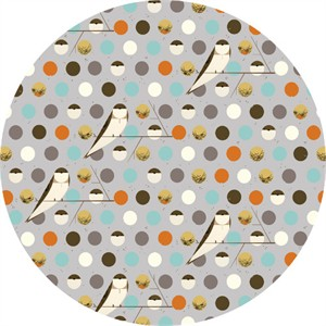 COMING SOON, Charley Harper for Birch Organic Fabrics, Bird Architects, DOUBLE GAUZE, Bank Swallow Sky