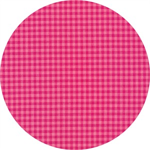 Cloud9 Fabrics, ORGANIC, Checks Please Yarn Dyed, Bubblegum Magenta