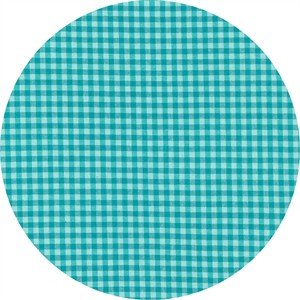 Cloud9 Fabrics, ORGANIC, Checks Please Yarn Dyed, Rain Turquoise