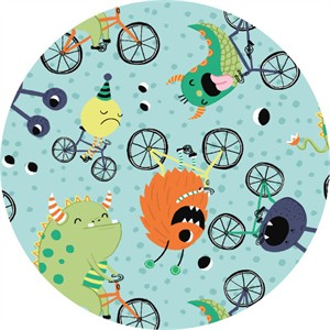 COMING SOON, Clothworks, Super Bad Monsters, Cycling Madness Aqua