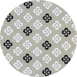 Cotton and Steel, Black and White 2, Clover Natural