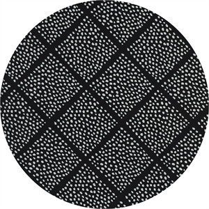 Cotton and Steel, Black and White 2, Lattice Dots Black