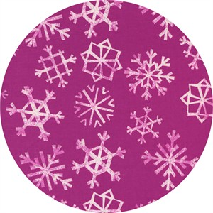 Cotton and Steel, Garland, Snowflakes Grape