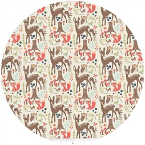 Design by Dani for Riley Blake, Woodland Spring, Main Cream