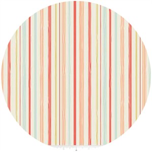Design by Dani for Riley Blake, Woodland Spring, Stripe Coral
