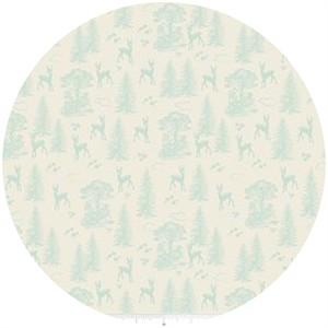 Design by Dani for Riley Blake, Woodland Spring, Friends Aqua