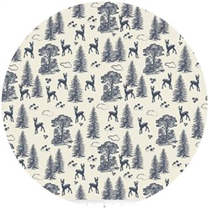 Design by Dani for Riley Blake, Woodland Spring, Friends Navy